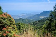 View of Kii Katsuura and the Pacific Ocean along the Ogumotori-goe trail