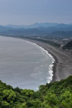 View of Shichiri mihama beach from Matsumoto toge pass, Iseji route