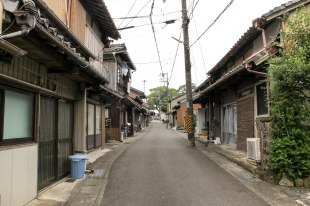 Honmachi old streets of Kumanoshi city