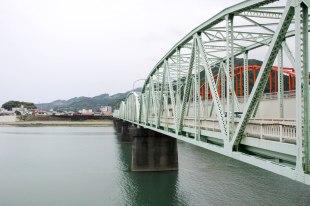 Bridge over the Kumanogawa river, Shingu
