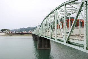 Bridge over the Kumanogawa river, Shingu