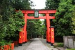 Torii gate at the entrance to Hayatama Taisha Grand Shrine, Shingu