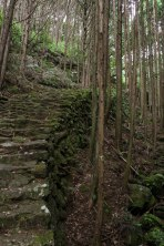 Stone paths along the Matsumoto toge pass, Iseji route