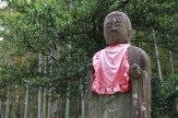 Tall Jizo guardian statue on top of Matsumoto toge pass, Iseji route