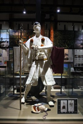 What pilgrims used to wear, Kumano Kodo Centre, Owase