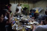 Wild boar hot pot dinner with fishermen friends, Susami