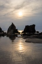 Sunrise at Hashigui iwa rocks, Kushimoto, Ohechi route