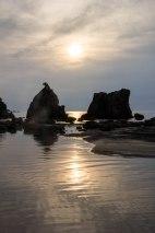 Sunrise at Hashigui iwa rocks, Kushimoto, Ohechi route