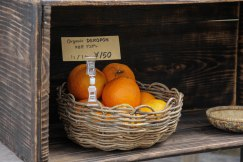 Oranges for sale outside a house in Takahara