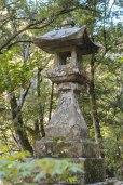 Stone lantern at Takijiri Oji