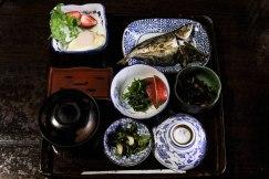 Breakfast at Ryokan Okajimaya, Tochihara