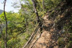 Rope reinforcements on the Kohechi trail
