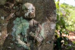 Jizo statue along the Kogumotori-goe trail