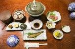 Dinner at Minshuku Teruteya, Yunomine Onsen