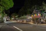 Yunomine Onsen main street at night