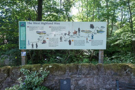 West Highland Way information board