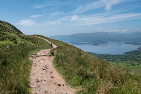 On Conic Hill with a view of Loch Lomond
