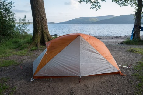 My camp for the night on the shore of Loch Lomond at Sallochy campsite