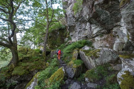 This section around Loch Lomond became a bit more of a scramble, climbing around large rocks