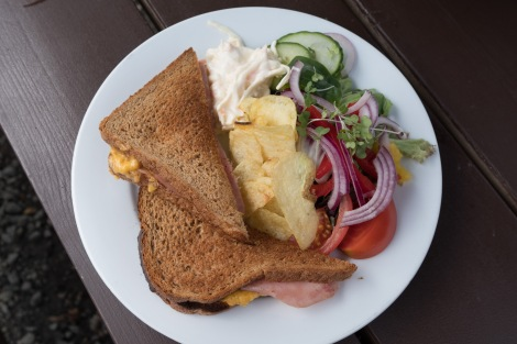 A delicious toastie at Beinglas farm