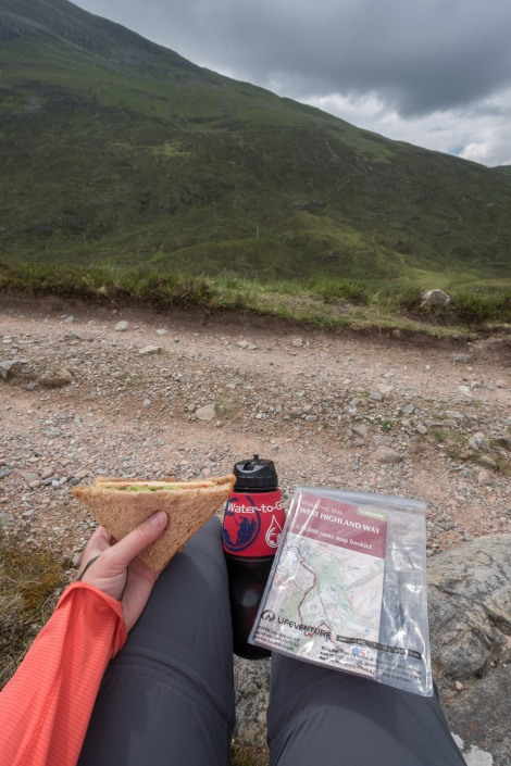 Lunch break on the West Highland Way