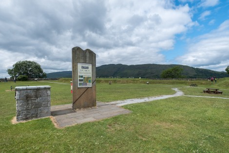 The start of the Great Glen Way at the old fort of Fort William