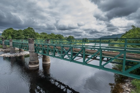 A railway bridge over the River Lochy