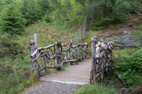 The troll bridge on the high-level route between Invermoriston and Drumnadrochit