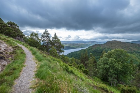 Views of Loch Ness from the high-level route between Invermoriston and Drumnadrochit