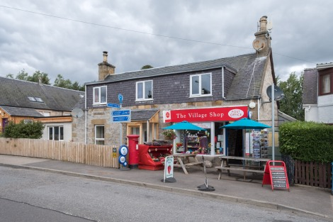 The village shop in the very quaint village of Boat of Garten