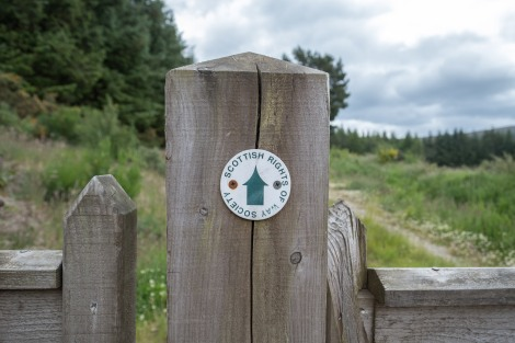 The public footpath from Aberlour to Dufftown