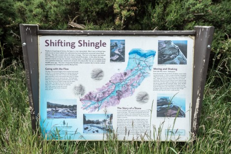 Information panel about the River Spey's shifting shingle
