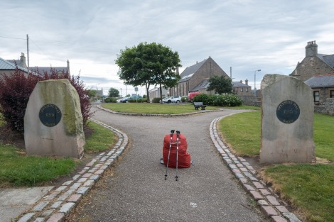 The end (or beginning) of the Speyside Way in Buckie.