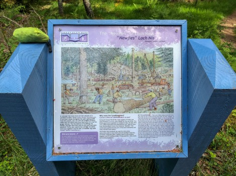 Information panel about the 'Newfies of Loch Ness'