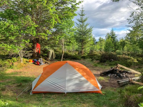 Home for the night at the rustic Abriachan Eco campsite