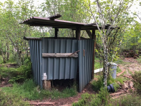 Eco toilet at Abriachan Eco campsite