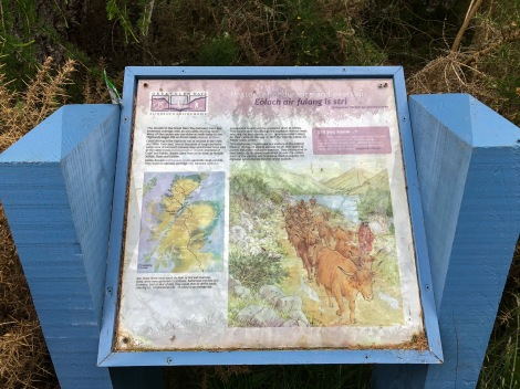 Information panel about drovers routes
