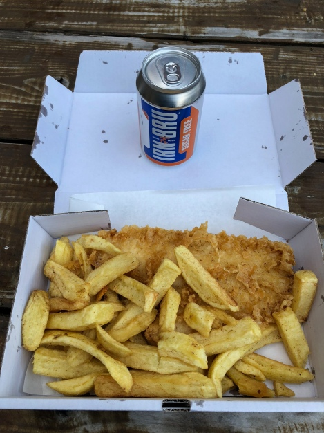 Fish and chips in Aviemore