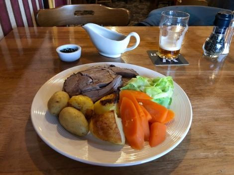 Roast dinner at the Haugh Hotel, Cromdale