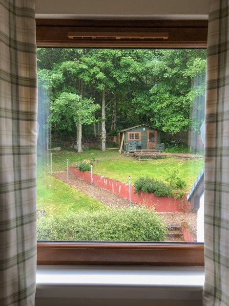 The view from my room at Bracarina House B&B in Invermoriston