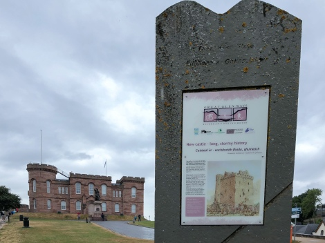 The end of the Great Glen Way at Inverness Castle