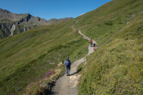 Still climbing up to the Grand Col Ferret on the Swiss/Italian border