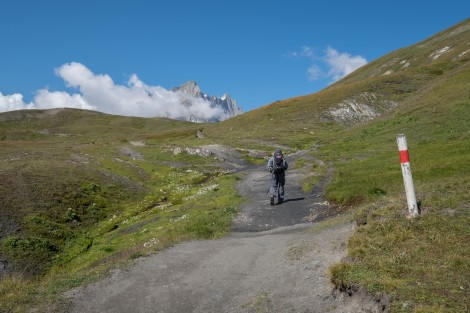 And still climbing up to the Grand Col Ferret on the Swiss/Italian border