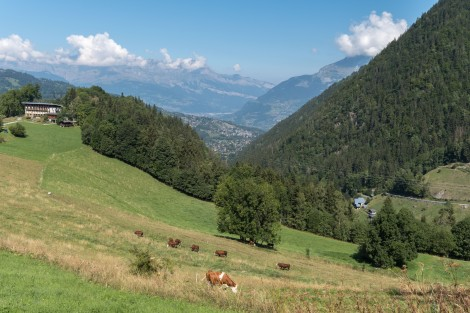 Looking back down the valley from Le Champel