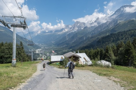 Descending from Col de Voza towards Les Houches
