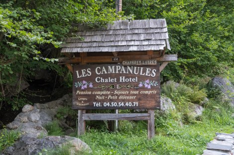 Our home for the night at Les Campanules just outside Les Houches
