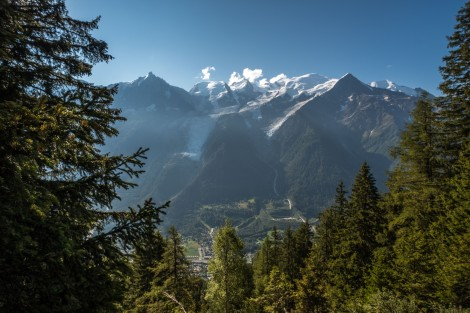 Views of Mont Blanc from the trail