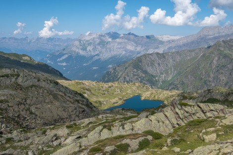 Looking down on Lac du Brevent