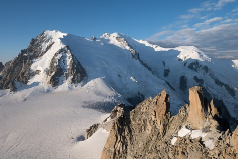 View of Mont Blanc from Aiguille du Midi, 3842m