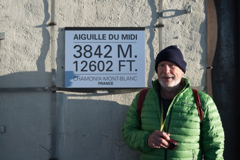 Dad at the Aiguille du Midi cable car station, 3842m